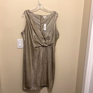 Charming Charlie's - metallic gold dress